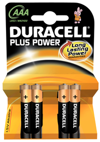 Duracell 4 piles AAA Plus Power