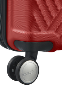 American Tourister Harde reistrolley Visby Spinner energetic red 76 cm-Onderkant