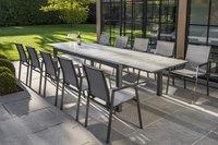 Ocean table de jardin à rallonge Lissabon charcoal L 220 x Lg 106 cm-Image 1