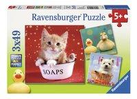 Ravensburger Puzzel 3-in-1 Grappige dieren