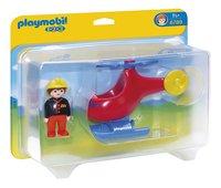Playmobil 1.2.3. 6789 Pompier avec hélicoptère-Avant