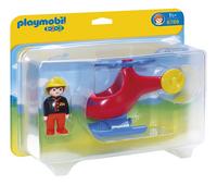 Playmobil 1.2.3 6789 Brandweerhelikopter