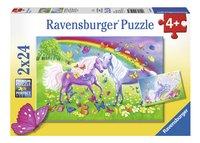 Ravensburger Puzzel 2-in-1 Regenboogpaarden