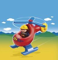 Playmobil 1.2.3. 6789 Pompier avec hélicoptère-Image 1