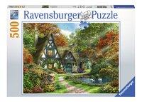 Ravensburger puzzel Cottage in de herfst-Vooraanzicht
