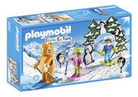 PLAYMOBIL Family Fun 9282 Moniteur de ski avec enfants-Côté gauche