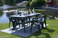 Allibert Table de jardin Baltimore gris graphite L 177 x Lg 100 cm-Image 1