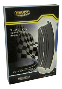 DMX Racer uitbreidingsset 4 stuks Curve tracks