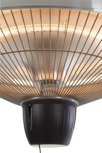 Sunred Elektrische hangende terrasverwarmer Mushroom 1500 W inox-Artikeldetail