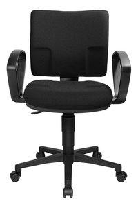 Topstar bureaustoel met armleuningen U50 zwart-Vooraanzicht