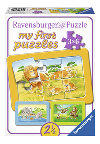 Ravensburger Puzzel 3-in-1 My First Aap, Olifant en leeuw