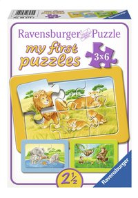 Ravensburger puzzle 3 en 1 My First Singes, éléphants et lions