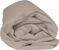 Home lineN Drap-housse Bicolore taupe en coton 140 x 200 cm-Détail de l'article