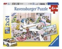 Ravensburger Puzzel 2-in-1 Rond het vliegtuig