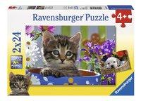 Ravensburger Puzzel 2-in-1 Schattige viervoeters