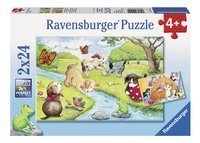 Ravensburger Puzzel 2-in-1 Spelende viervoeters