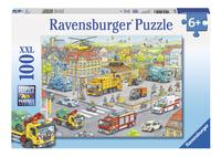 Ravensburger XXL puzzel Voertuigen in de stad-Vooraanzicht