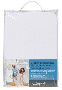 Protège-matelas (housse) tissu-éponge/polyuréthane (PU) Lg 90 x L 200 cm-Avant