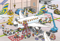 Ravensburger Puzzel 2-in-1 Rond het vliegtuig-Artikeldetail