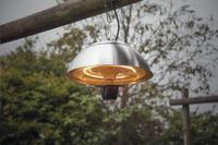 Sunred Elektrische hangende terrasverwarmer Mushroom 1500 W inox-Afbeelding 1