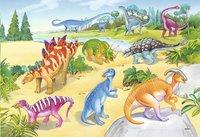 Ravensburger Puzzel 2-in-1 Kleurrijke dinosauriers-Artikeldetail