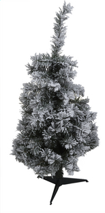 Sapin de Noël vert enneigé 90 cm