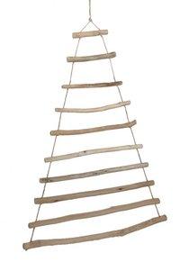 Sapin de Noël en branches de bois H 100 cm
