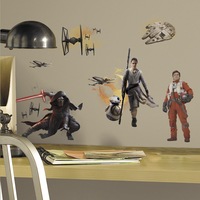 Stickers muraux Star Wars VII Full Cast