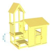 Blue Rabbit houten speelhuisje met toren Lookout 60-product 3d drawing