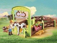 PLAYMOBIL Spirit 9480 Abigail & Boomerang met paardenbox-Afbeelding 1