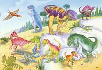 Ravensburger Puzzel 2-in-1 Kleurrijke dinosauriers-Vooraanzicht