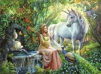 Ravensburger puzzle XXL Princesse et licorne-Avant