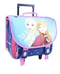 Trolley-boekentas Disney Frozen blauw/roze 41 cm