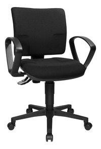 Topstar bureaustoel met armleuningen U50 zwart-Linkerzijde