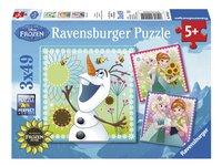 Ravensburger Puzzel 3-in-1 Disney Frozen Fever-Vooraanzicht