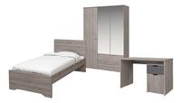 Chambre Tempo lit + bureau + garde-robe 3 portes-Avant
