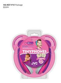 JVC hoofdtelefoon Tinyphones HA-KD7-P roze