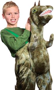 Verkleedpak Ride on Dino één maat-commercieel beeld