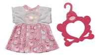 Baby Annabell kledijset Day Dresses roze-wit-Vooraanzicht
