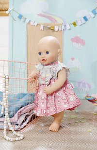 Baby Annabell kledijset Day Dresses roze-wit-Afbeelding 2