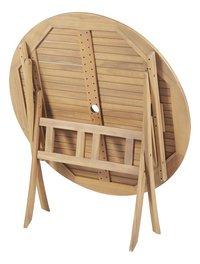 Table de jardin acacia Ø 110 cm-Détail de l'article