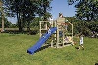 Blue Rabbit houten speeltoren Crossfit met blauwe glijbaan-Afbeelding 1