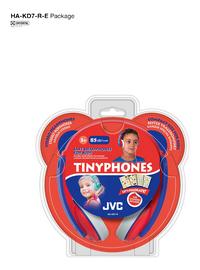 JVC casque Tinyphones HA-KD7-R rouge