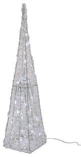 Pyramide lumineuse blanc froid H 120 cm