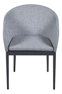 Chaise de jardin Leon gris clair/anthracite