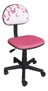 Chaise de bureau pour enfants Papillons rose-Côté gauche