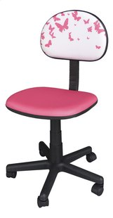 Chaise de bureau pour enfants Papillons rose-Côté droit