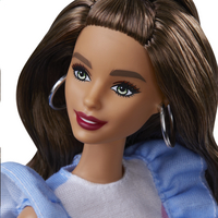 Barbie mannequinpop Fashionistas 121 - Blue Ruffle Dress-Bovenaanzicht