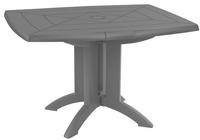 Grosfillex table de jardin Vega 118 anthracite 120 x 80 cm-Avant