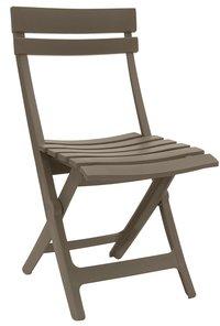 Grosfillex chaise pliante Miami taupe-Avant